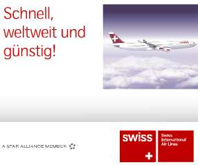 Swiss Airlines Flug